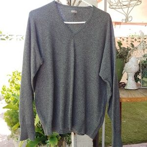 CASHMERE SWEATER, GREY, SIZE LARGE